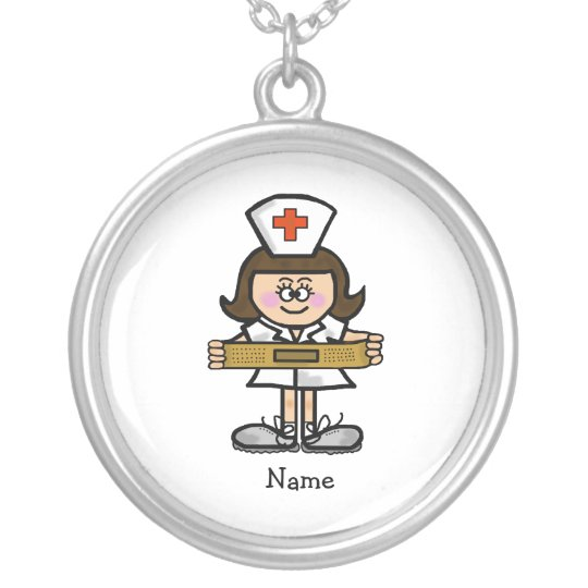 Female Nurse Necklace  Customise It with Name