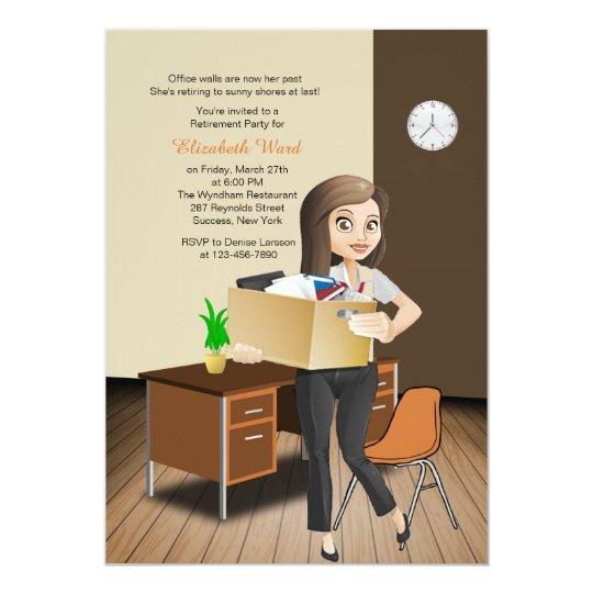 Female Office/School Employee Retirement Invites