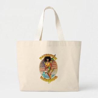 Female Patriotic Warrior Canvas Bags