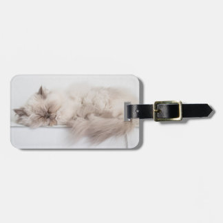 Female Persian Cat Bag Tag