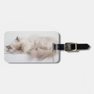 Female Persian Cat Luggage Tag