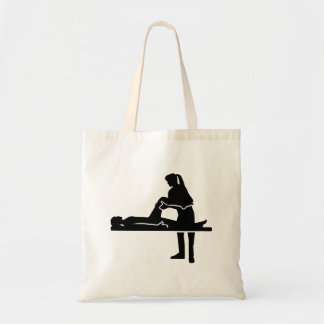 Female physiotherapist tote bag