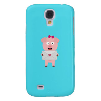 Female Pig with Loveletter Q1Q Galaxy S4 Case