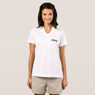 Female Pilot Aviation Themed Graphic Polo Shirt