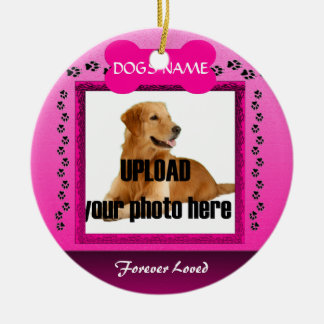 Female Pink Dog Memorial Christmas Ornament