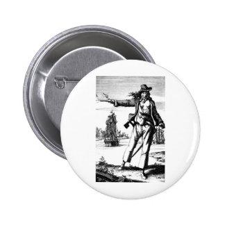 female pirate pinback button
