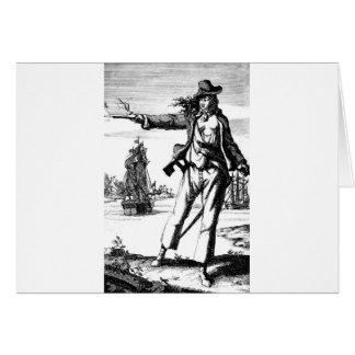 female pirate greeting card