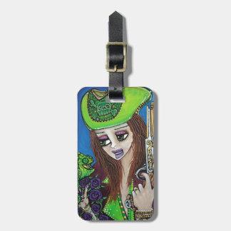 Female Pirate Chameleon Bag Tag
