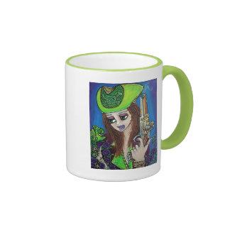 Female Pirate Chameleon Coffee Mugs