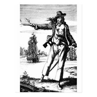 female pirate postcard