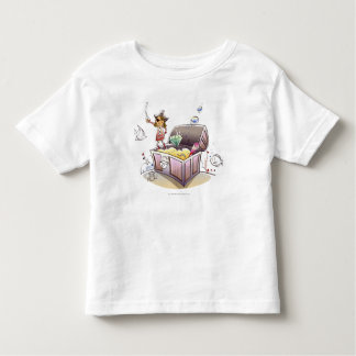 Female pirate standing on a treasure chest toddler T-Shirt