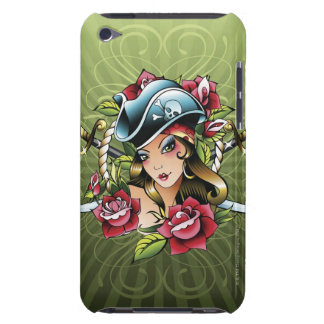 Female pirate with roses and swords iPod touch covers