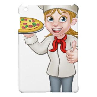 Female Pizza Chef Cartoon Character iPad Mini Case