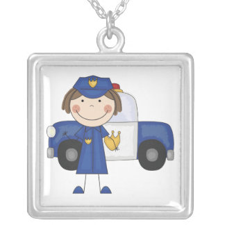 Female Police Officer Necklace