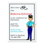 Female Police Officer Retirement Party Invitation