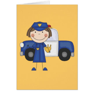 Female Police Officer Tshirts and Gifts Greeting Card