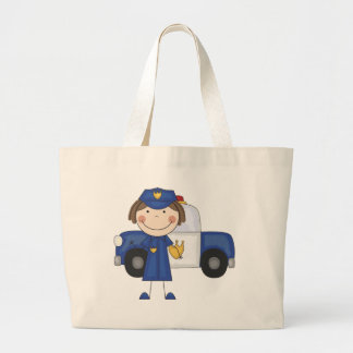 Female Police Officer Tshirts and Gifts Jumbo Tote Bag
