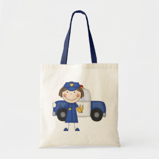 Female Police Officer Tshirts and Gifts Canvas Bag