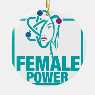 Female Power Christmas Ornament
