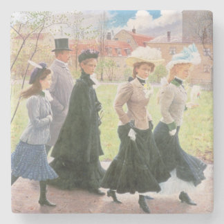 Female pupils for Confirmation Stone Coaster
