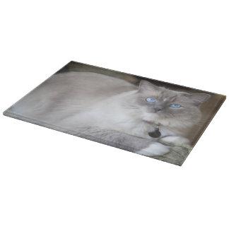 Female Ragdoll Cat Cutting Board