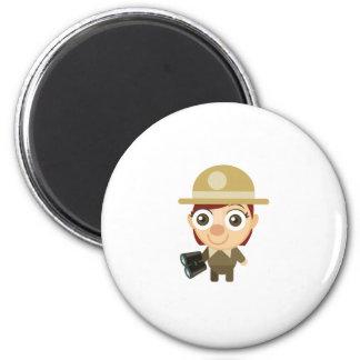 Female Ranger - My Conservation Park Fridge Magnets