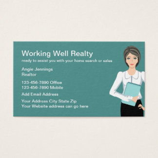 Female Realtor Professional Design Business Card