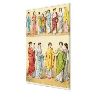 Female Roman Dress Canvas Print