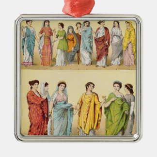 Female Roman Dress Christmas Ornament