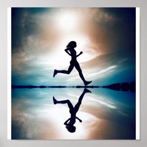 Female runner poster