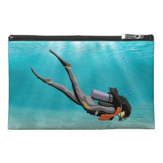 Female S.C.U.B.A. Diver Travel Accessories Bags
