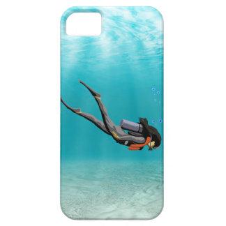 Female S.C.U.B.A. Diver iPhone 5 Cases