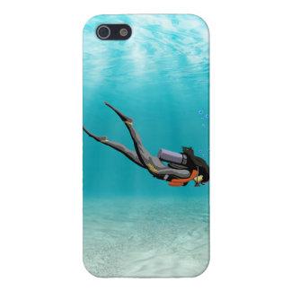Female S.C.U.B.A. Diver iPhone 5 Cover
