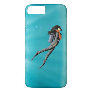 Female S.C.U.B.A. Diver iPhone 7 Plus Case