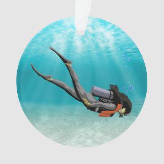 Female S.C.U.B.A. Diver Ornament