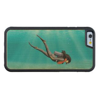 Female S.C.U.B.A. Diver Maple iPhone 6 Bumper Case