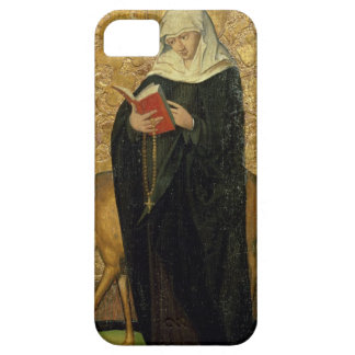 Female Saint with a Stag (oil on panel) iPhone 5 Cover