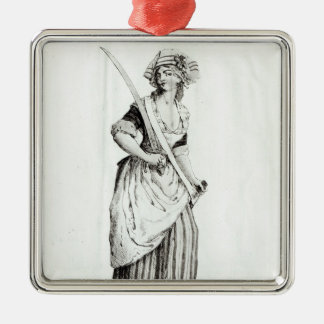 Female Sans-Culotte, 1792 Christmas Ornament