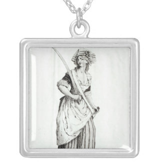Female Sans-Culotte, 1792 Silver Plated Necklace