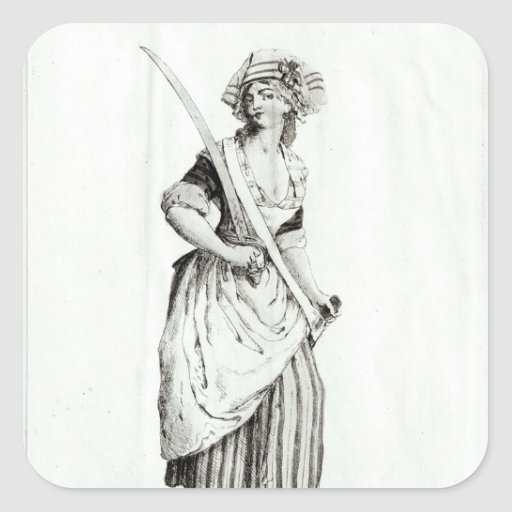 Female Sans-Culotte, 1792 Stickers