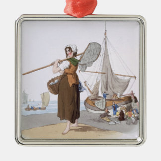Female Shrimper, from 'Costume of Great Britain', Christmas Ornament
