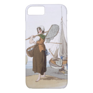 Female Shrimper, from 'Costume of Great Britain', iPhone 8/7 Case