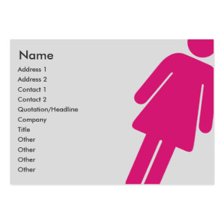 Female Sign - Chubby Business Card
