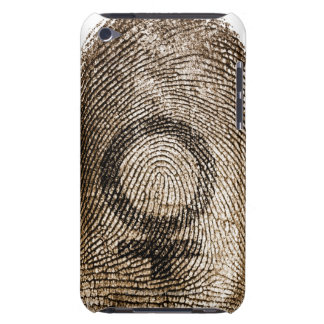 Female sign on thumbprint iPod touch cover