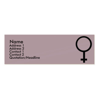 Female Sign - Skinny Business Card
