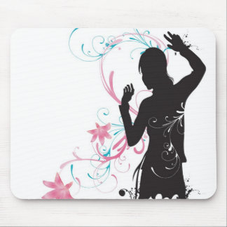 Female silhouette Mousepad