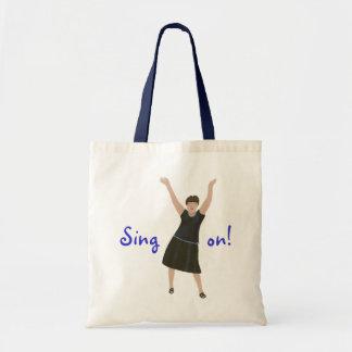 Female singer, Sing on, karaoke bags