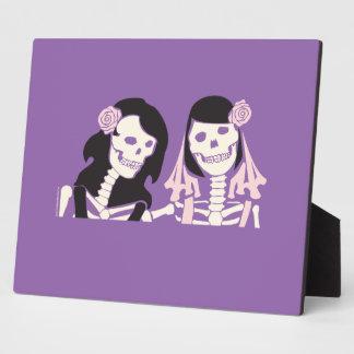 Female Skeleton Couple Plaques