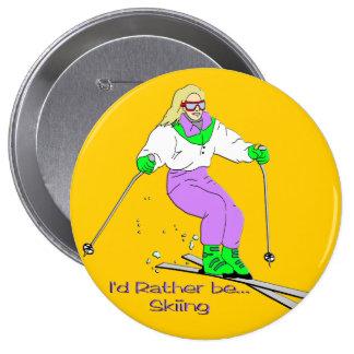 Female Skier Pins