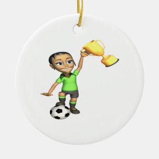 Female Soccer Champion Christmas Ornament